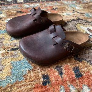 Birkenstock Boston Brown Oiled Leather Clog